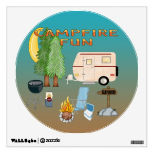 Funny Camping Wall Quotes Words Sayings Removable Lettering 7 Picture