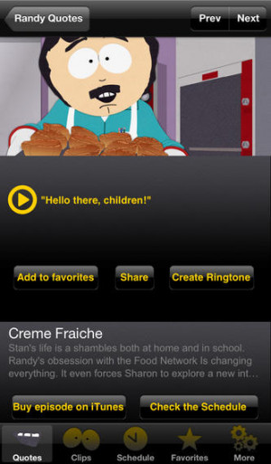 Download Official South Park Quotes iPhone iPad iOS