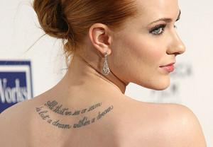 Evan Rachel Woods (True Blood) lleva unos de los tatuajes más famosos ...
