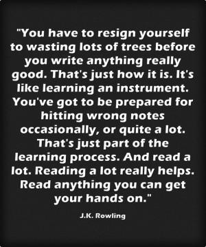 charming life pattern: j. k. rowling - quote - you have to resign ...