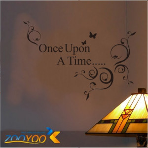 ... Quote Wall Art › Once Upon A Time Quote vinyl art decol wholesale
