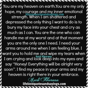 You Are My Heaven On Earth...