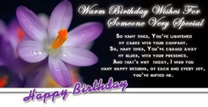 Warm Birthday Wishes For Someone Very Special Wishes Pictures