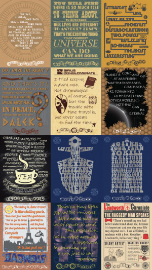 Doctor Who Quotes 570x1013 SR Geek Picks: Thor 2 as a Romcom, Best ...