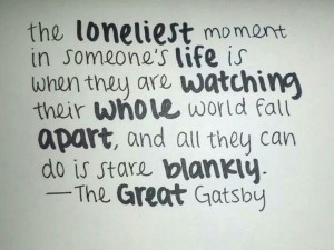 The great Gatsby quote been there. done that. got the tshirt. wore it ...