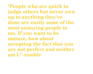 to all the immature & self-centered people. in light of recent events ...