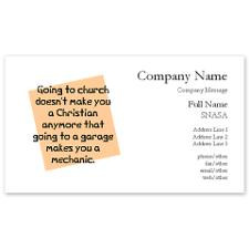Going to church doesn't Business Cards for