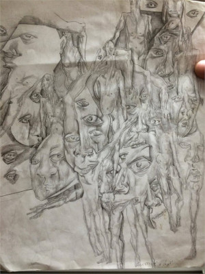 ... psych ward. An inmate with severe paranoid schizophrenia drew this