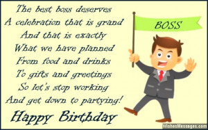 Happy Birthday wishes quotes for boss from staff funny