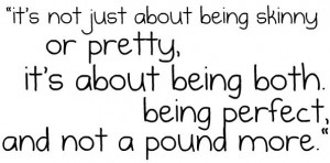 Thinspiration Quote – It's about being perfect