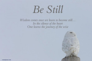 be still in the now picture quotes