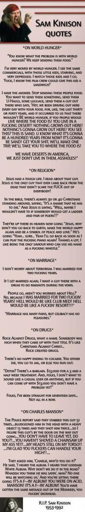Sam Kinison Quotes...Gotta love Sam!