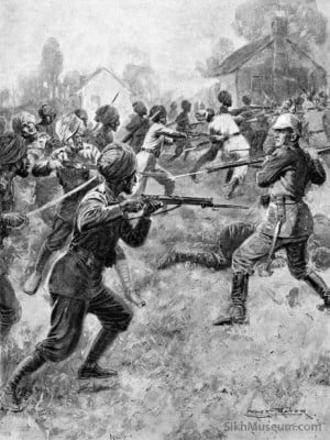 Sikh Soldiers in World War I, Title: East and West Meet in Mortal ...