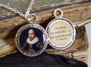 William Shakespeare Necklace - Poetry Quote Necklace - DOUBLE-SIDED ...