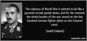 The colossus of World War II seemed to be like a pyramid turned upside ...