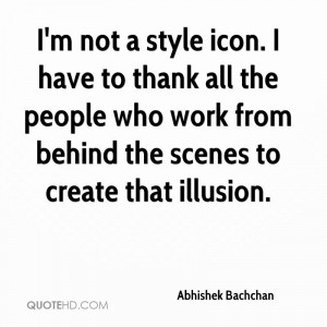 abhishek bachchan quote im not a style icon i have to thank all the