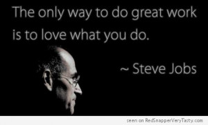 Steve Jobs – Do Great Work, Love What You Do