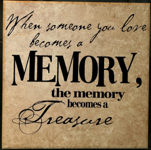 Quotes About Memory Of Loved Ones