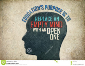 Illustration of a creative thinking brain mind background with letters ...