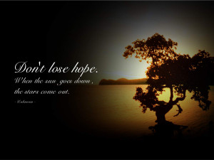 Inspirational Quote about Hope wallpaper
