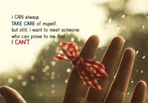 ... , but still, i want to meet someone who can prove to me that i can't