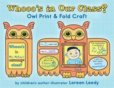 In Our Class? If you need a foldable owl printable, a back to school ...