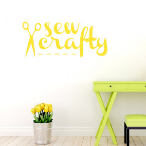 Sew Crafty - Quotes Wall Decals