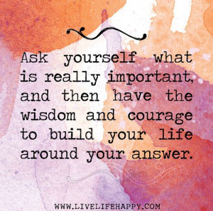 Ask Yourself What Is Really