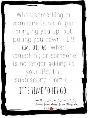 Mandy hale its time to let go quote
