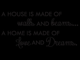 House and Home quote wall decal | Dezign With a Z