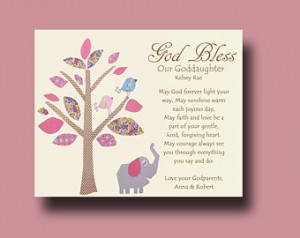 Goddaughter gift - Gift for Goddaughter - Personalized gift for ...