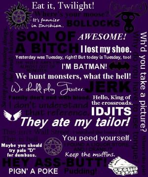 ... Quotes Supernatural, Crowley Quotes, Spn, Dean Quotes, Quotes Dean