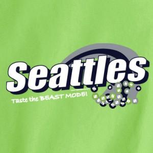 SEATTLES TASTE THE BEAST MODE T-Shirt for Seahawk Fans