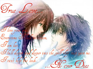 Pictures Gallery of anime love quotes