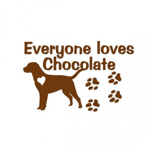 Chocolate Labrador Retriever Dog Vinyl Decal Wall by sookiedog, $9.00