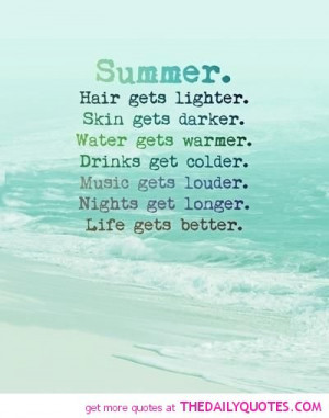 Quotes and Sayings About Summer