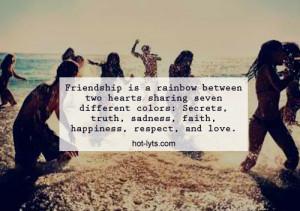 Friendship Rainbow Between