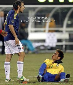Neymar Jr Soccer Quotes Neymar and yepes talk