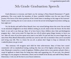 How to write a good application 8th grade graduation speech