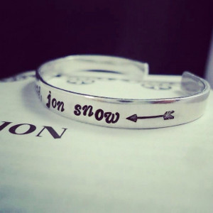 You Know Nothing Jon Snow Ygritte Quote With Arrow Bracelet Cuff Game ...