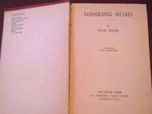 Nanking Road by Vicki Baum 1941 HB BOOK