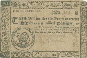Colonial South Carolina Map