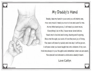 Keepsake Personalized Daddy's Hand Poem Quote Saying Father's Day ...