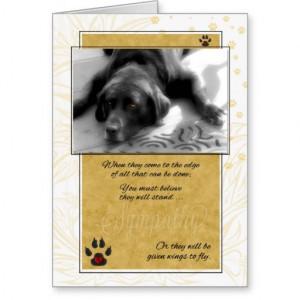 Sick or Terminally ILL Dog Pet Sympathy Card