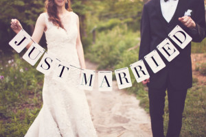 DIY Just Married Banner