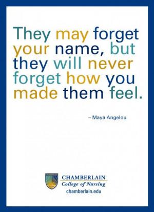 Great nursing quote.