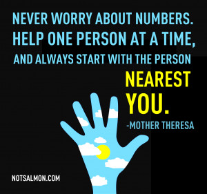 An Inspiring Quote From Mother Theresa....