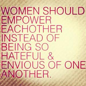Women should stick together