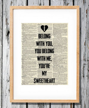 Lumineers Quote - I Belong with You, you Belong with me, you're my ...