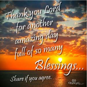 Thank God For Abundant Blessings !!